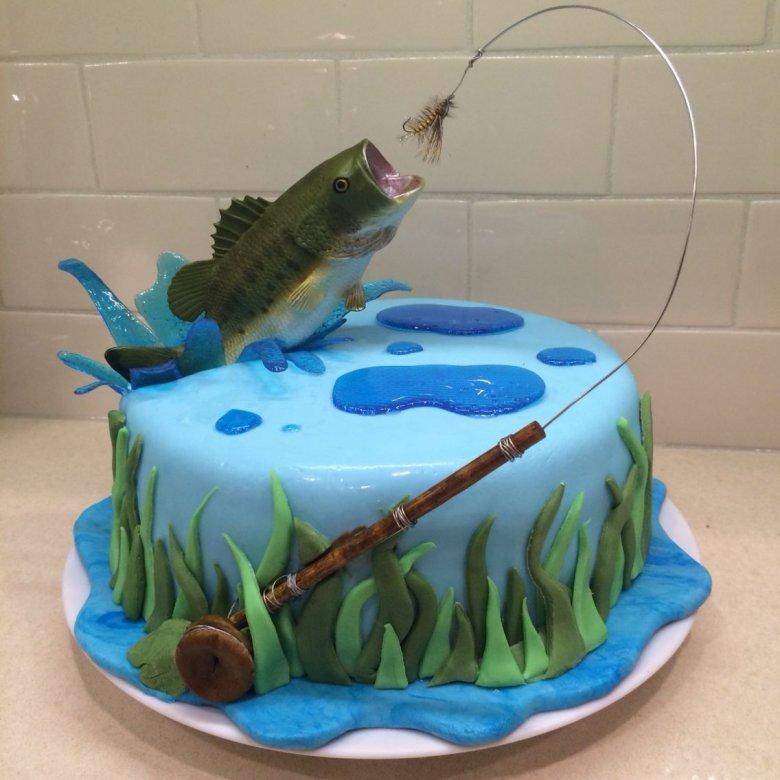картинки тортов про рыбалку великому