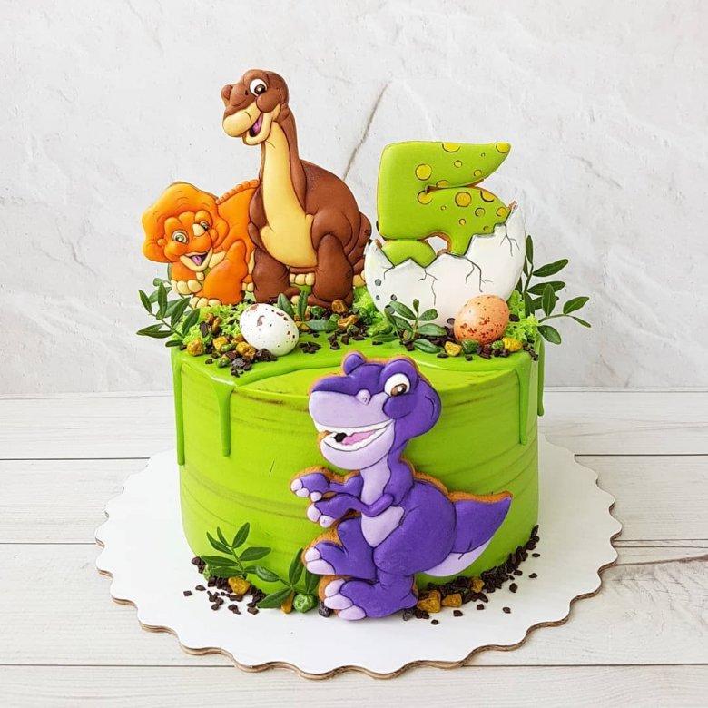 Картинки торт динозавры