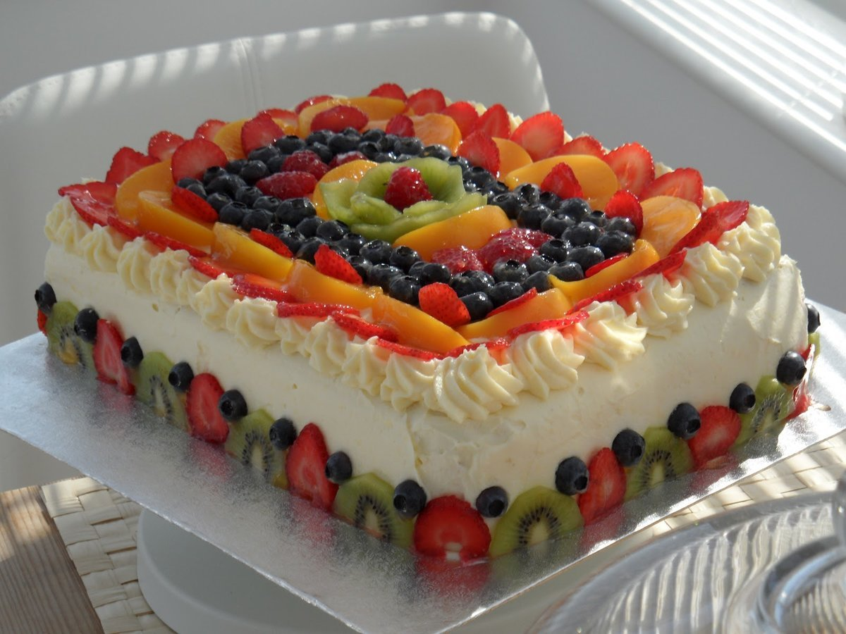 Картинки торт фруктами линя