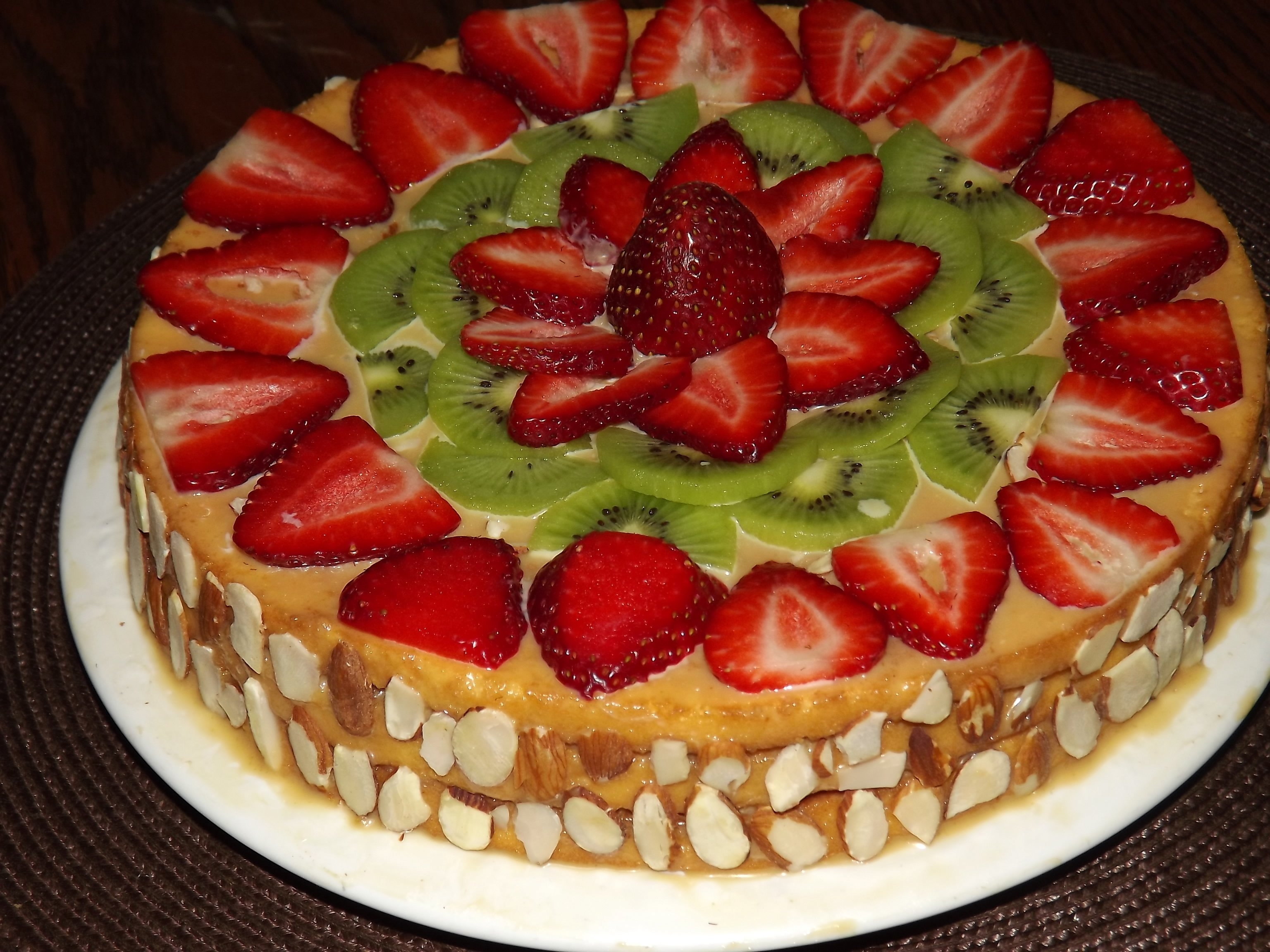 как торт украшенный фруктами рецепт с фото составить запись