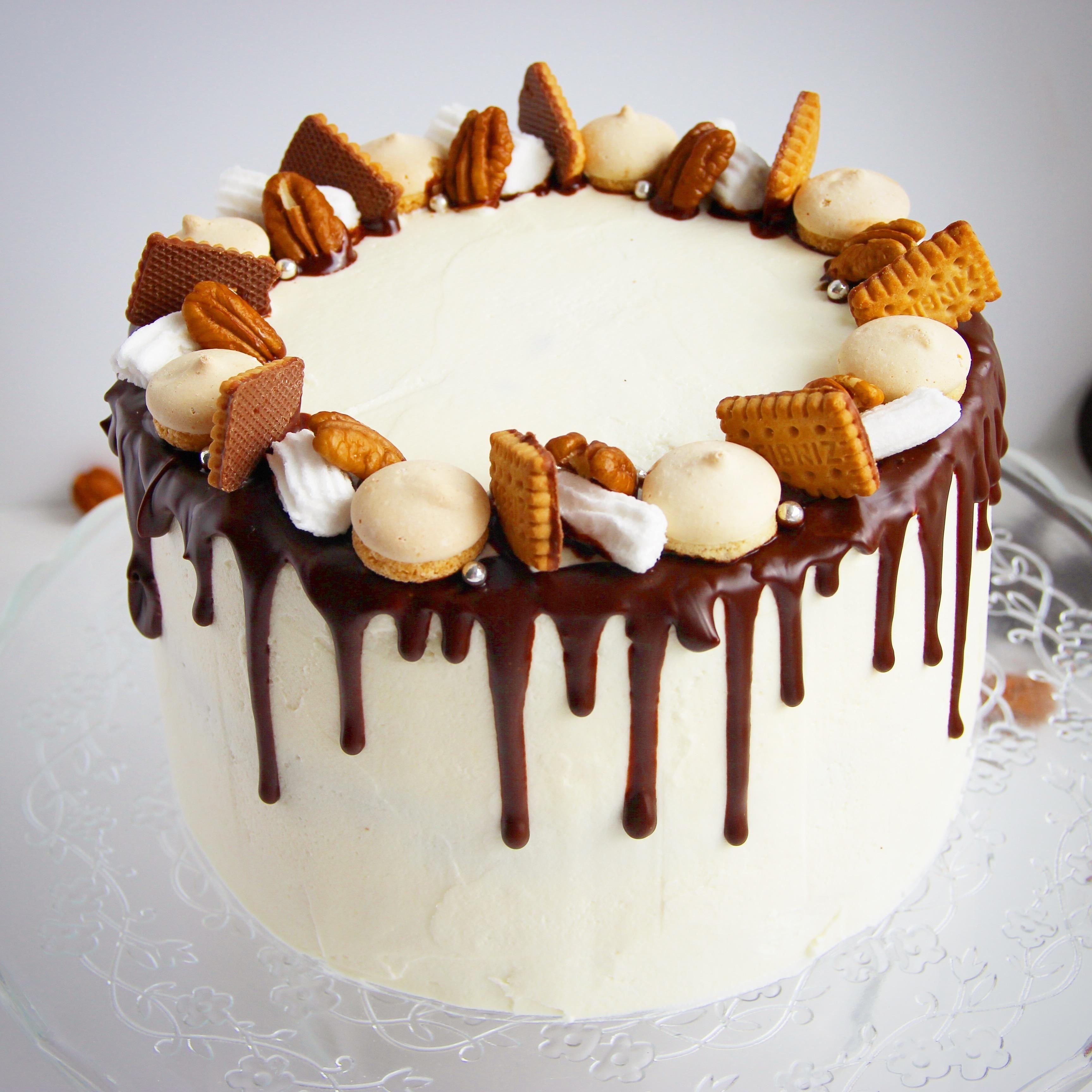 Как украсить торт с фотографией