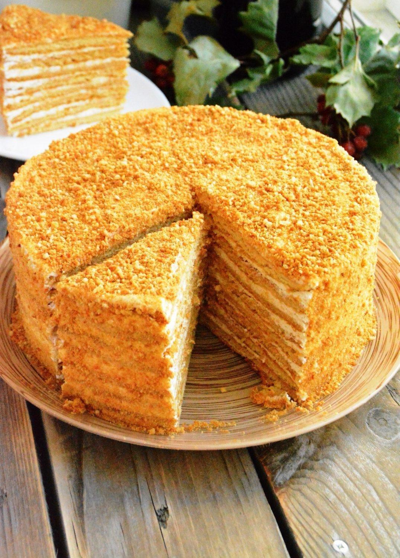 Простой медовый торт рецепт с фото