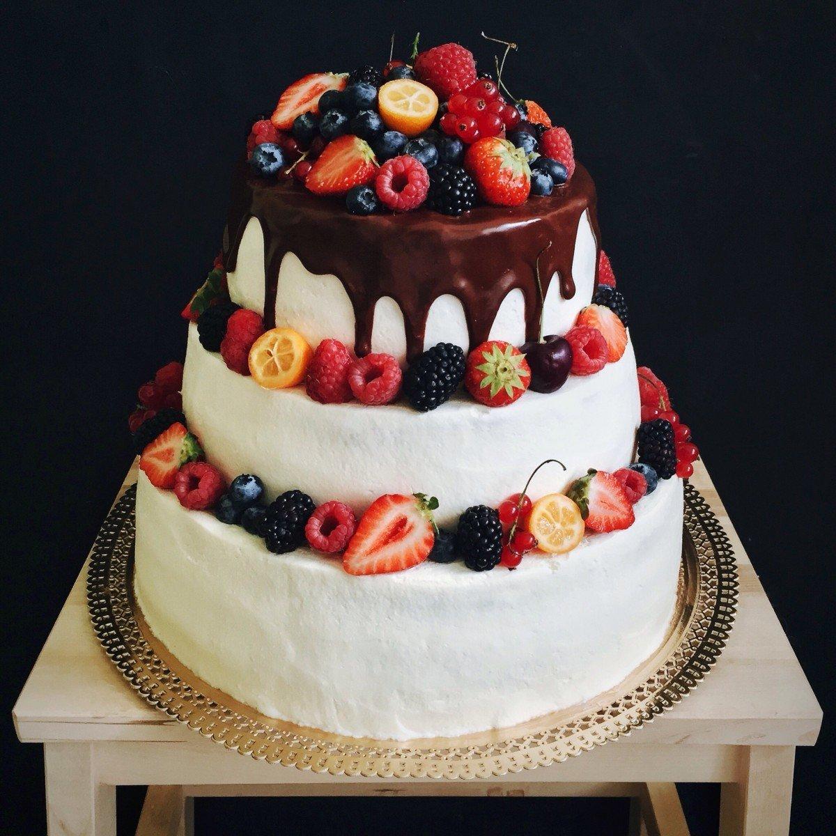 повышают двухъярусный торт без мастики рецепт с фото малтаква большое