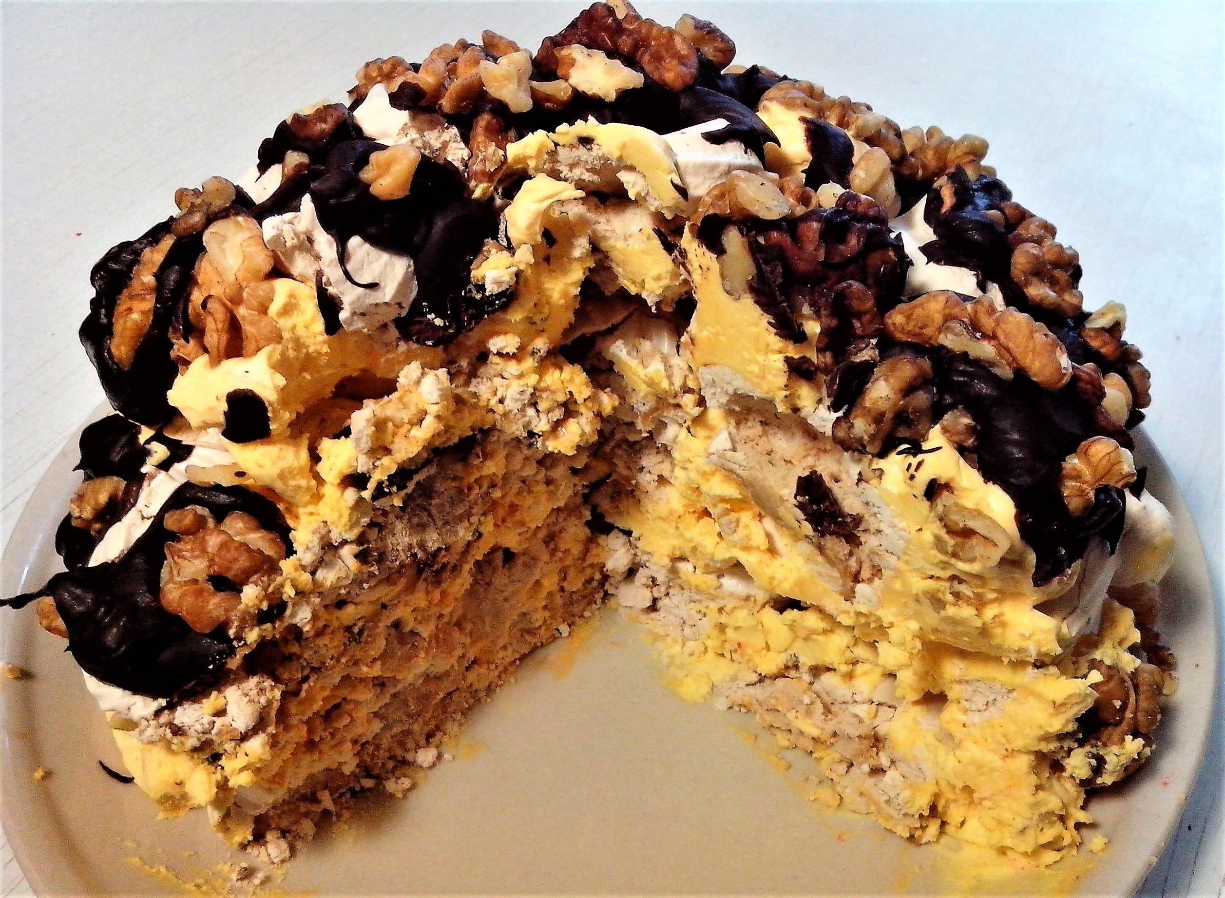 этот лучший рецепт торта графские развалины с фото его красивый салатник
