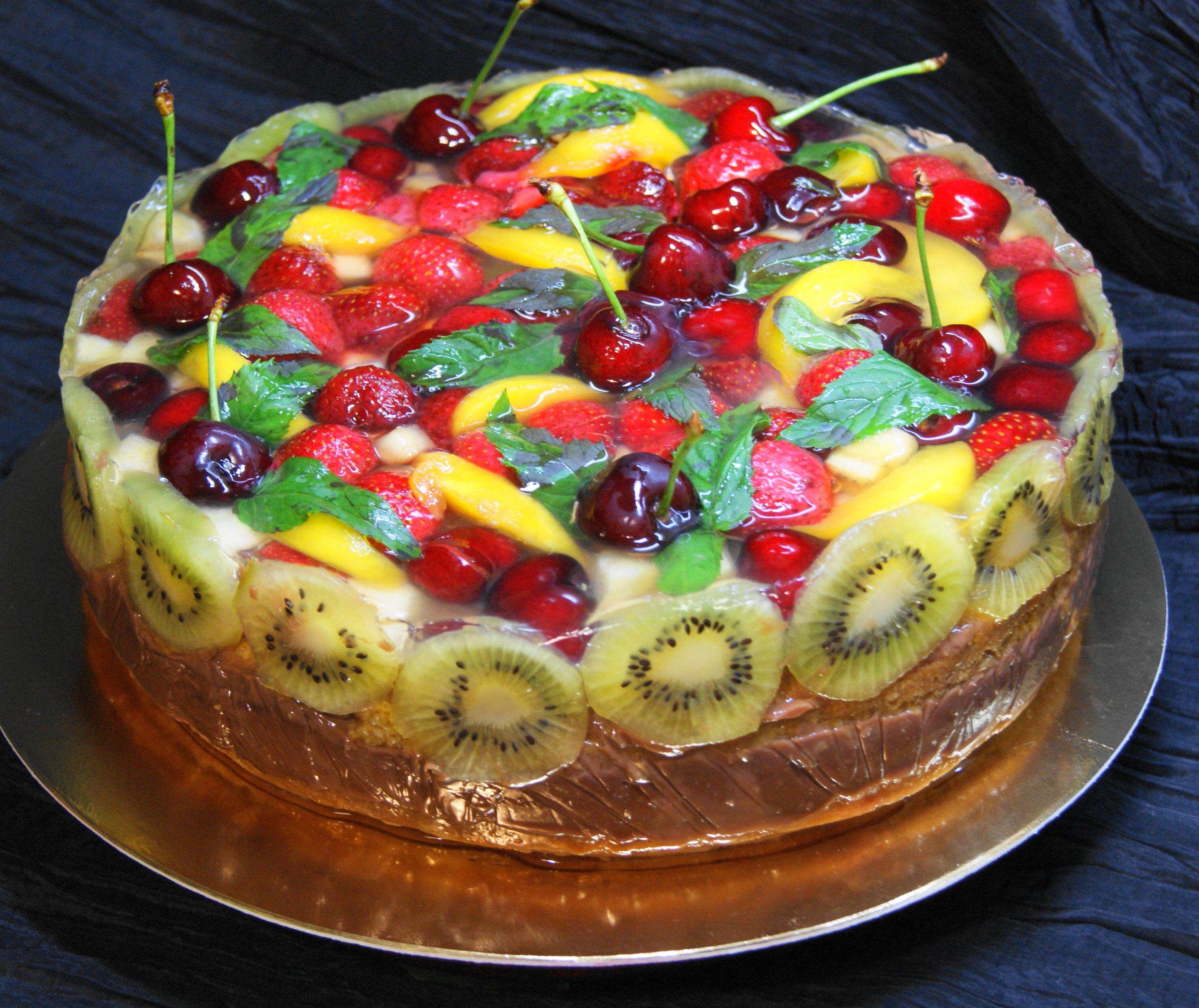 Праздничный торт своими руками пошагово с фото
