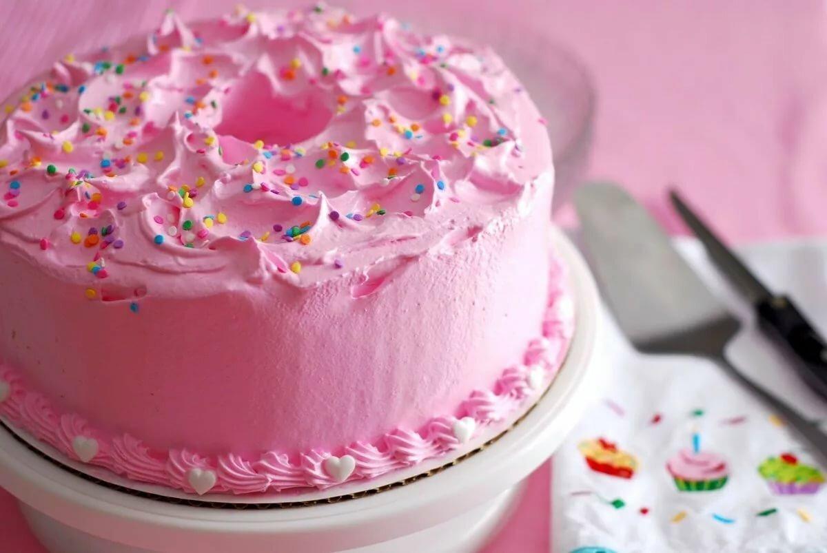 картинки розовых тортов при желании можете