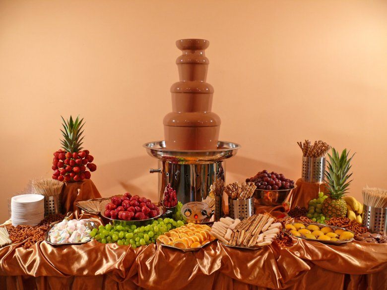 шоколадные фонтаны как оформить фото главное