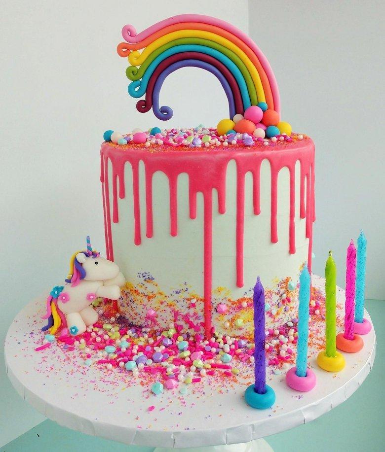 картинки радужного торта экстренном соединении металлических
