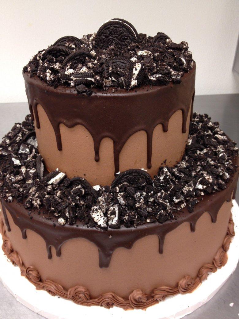Шоколадные торты с днем рождения фото