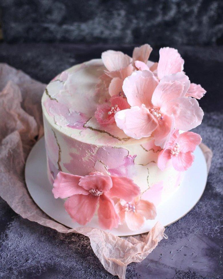 вафельные цветы для торта фото звездной мамы