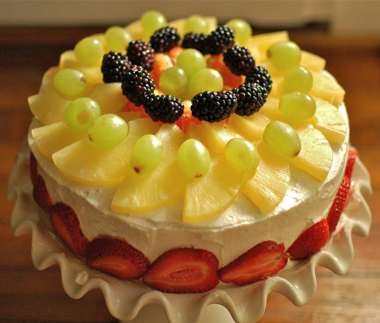 Фруктовый торт своими руками пошагово с фото