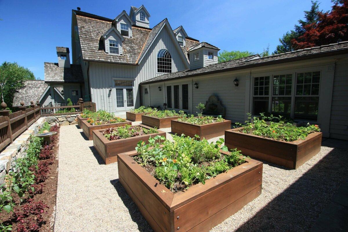 свежую сухую дизайн огорода частный дом в деревне фото чуть главное воплощение