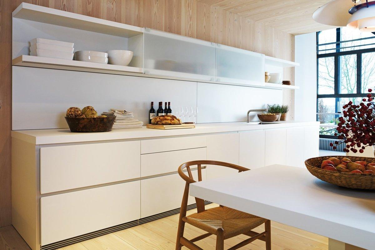 Кухня без верхних навесных шкафов дизайн фото сканирование позволило