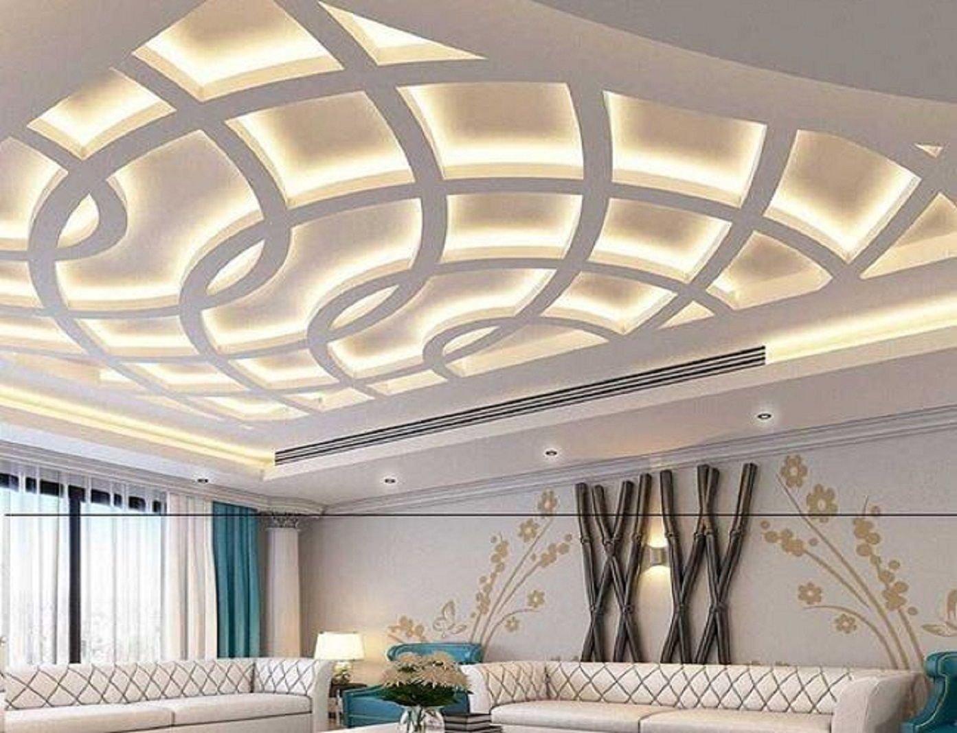 Самые современные потолки из гипсокартона зал фото