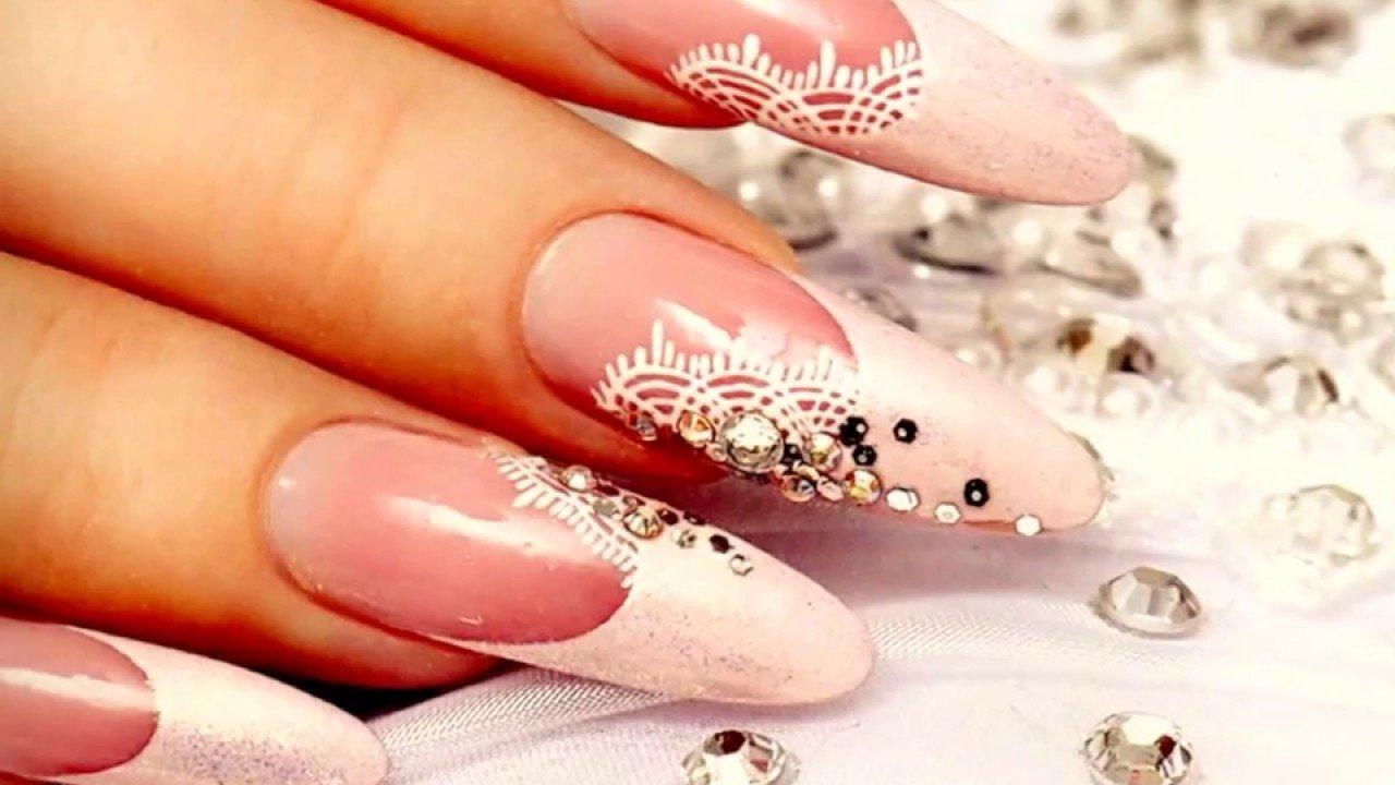 Дизайн нарощенных ногтей свадебный фото