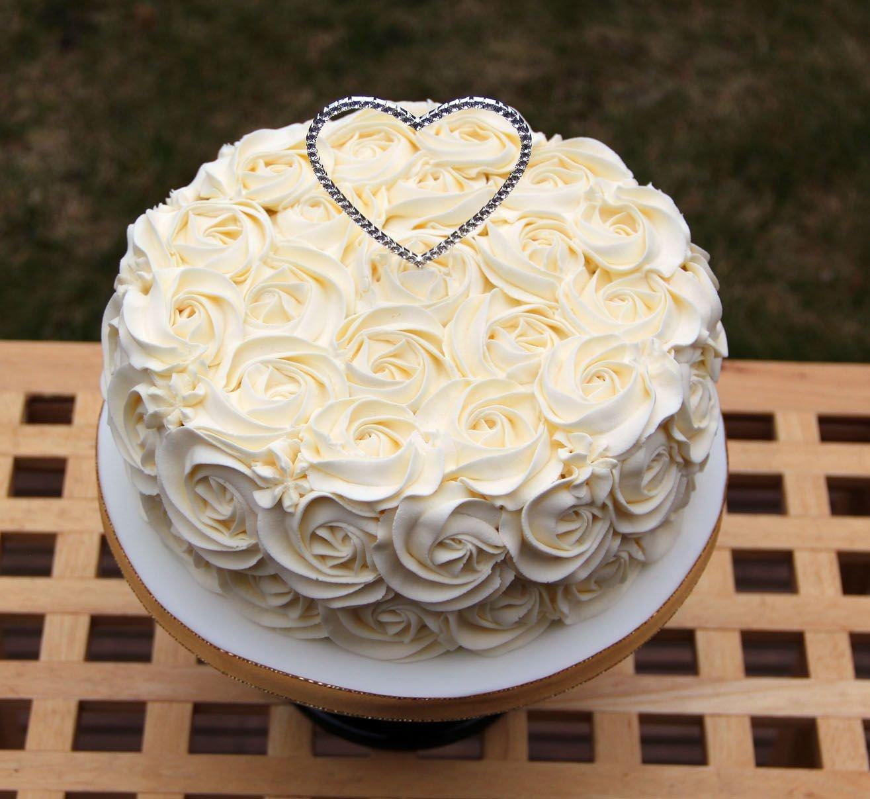 Свадебный торт фото одноярусный без мастики