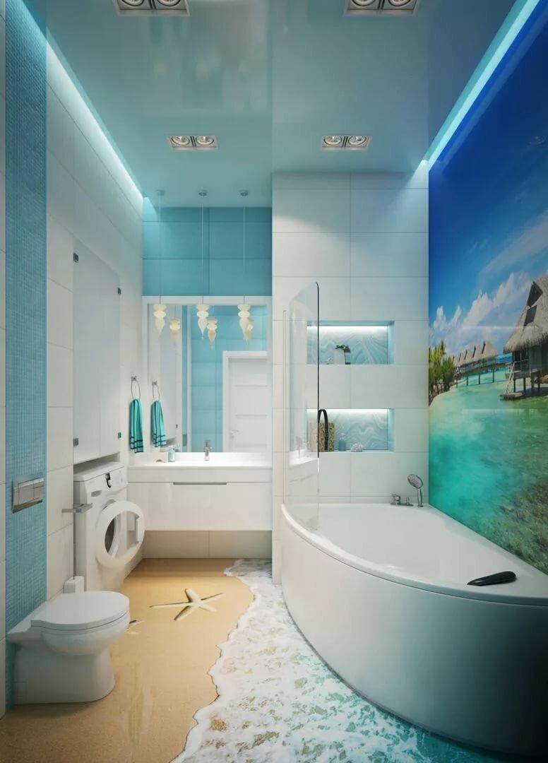 Ванная картинки в морском стиле