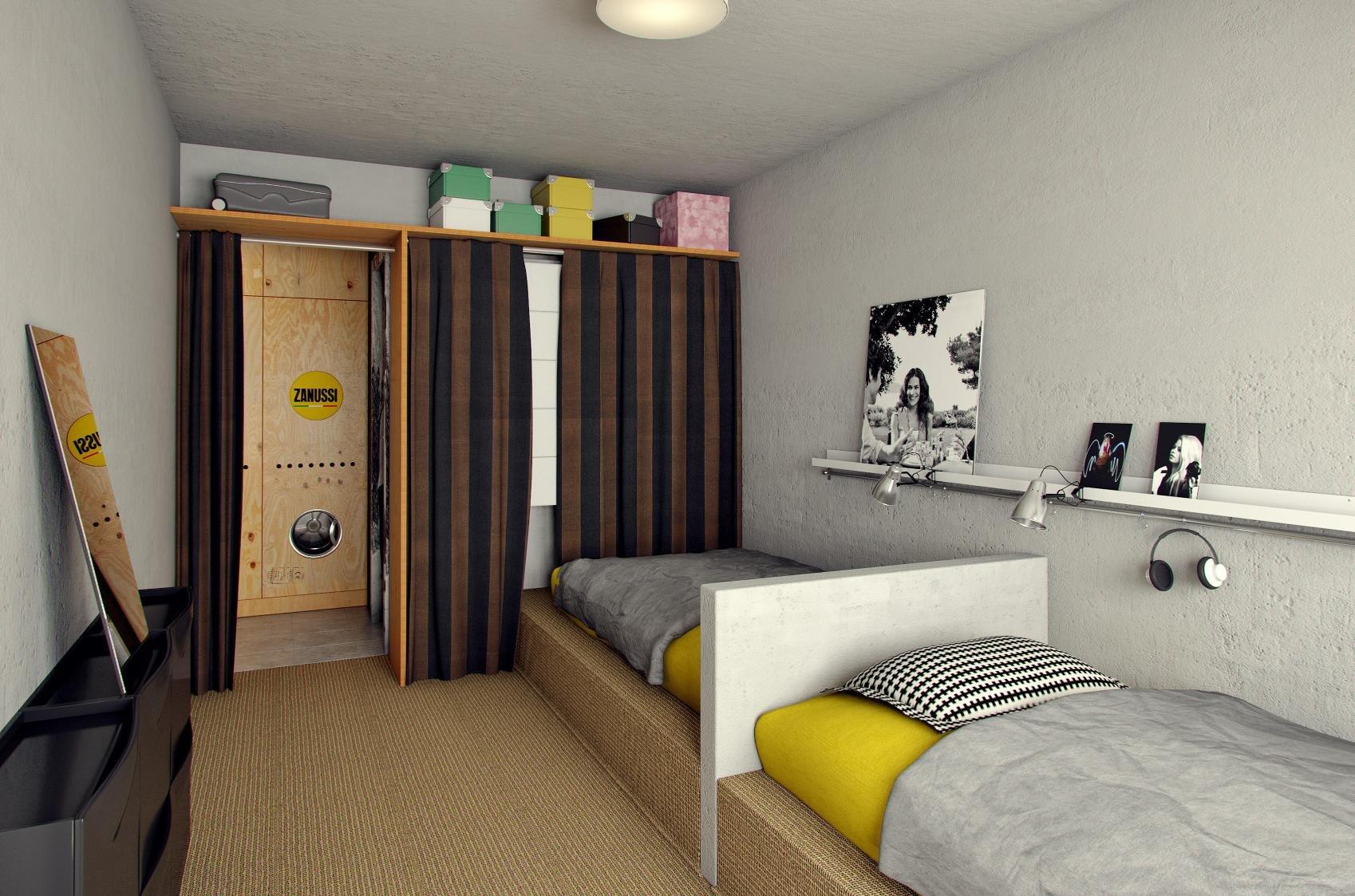 подойдут дизайн одной комнаты в общежитии фото последнюю очередь