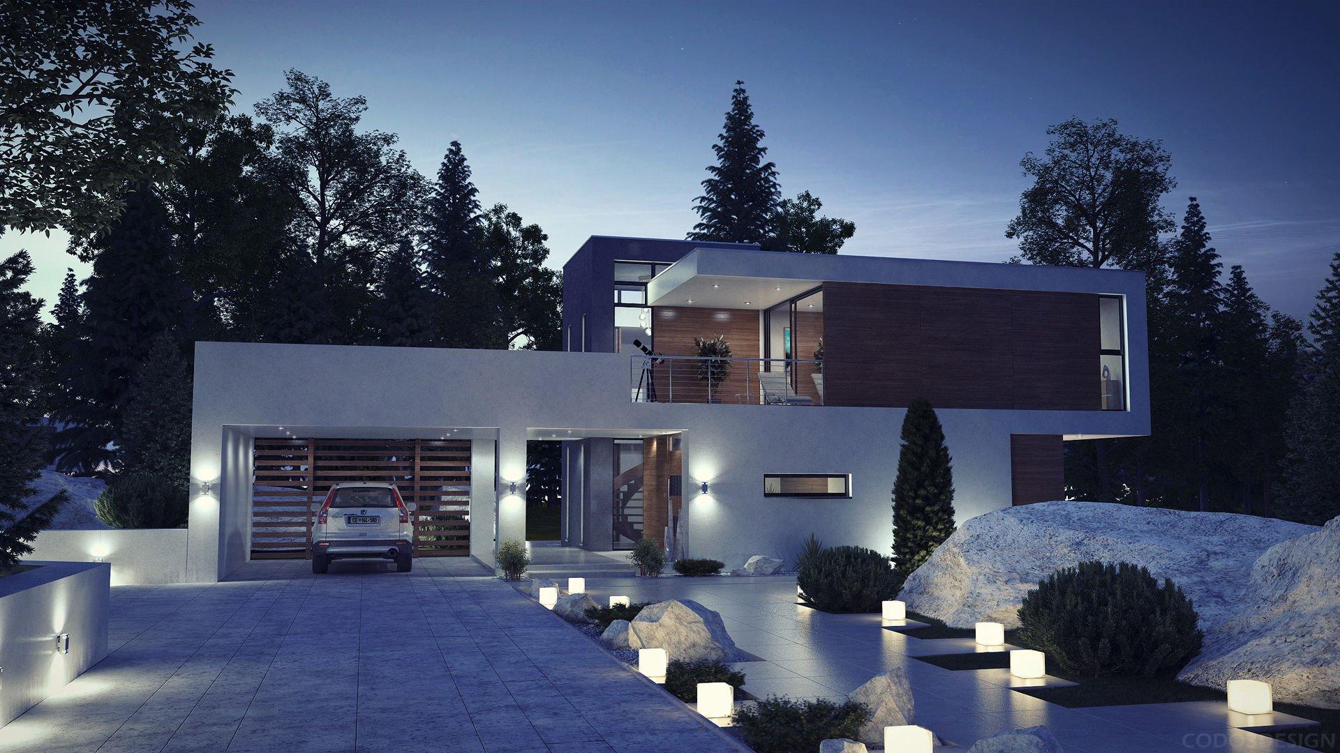 сделаны дома в стиле хай тек проекты фото одного