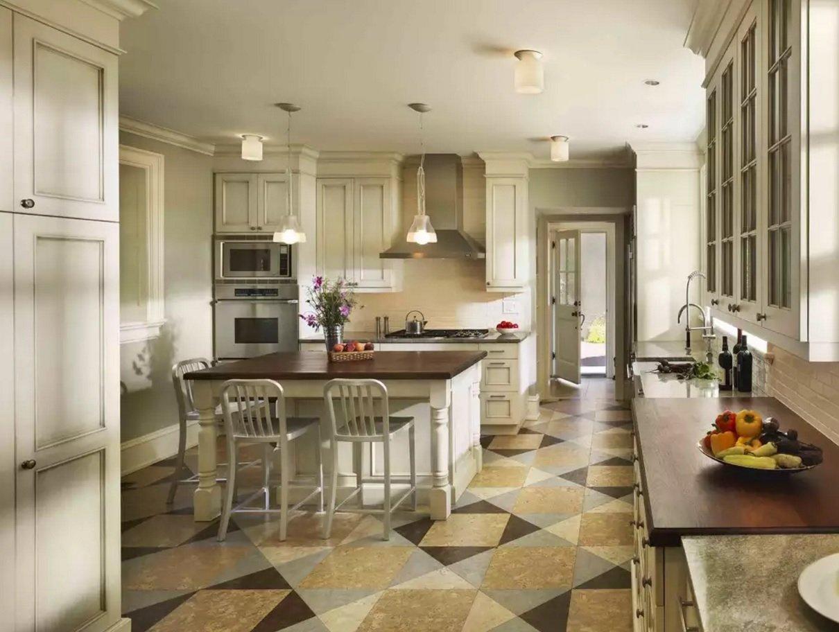 поделился картинки по дизайну пола на кухне современном