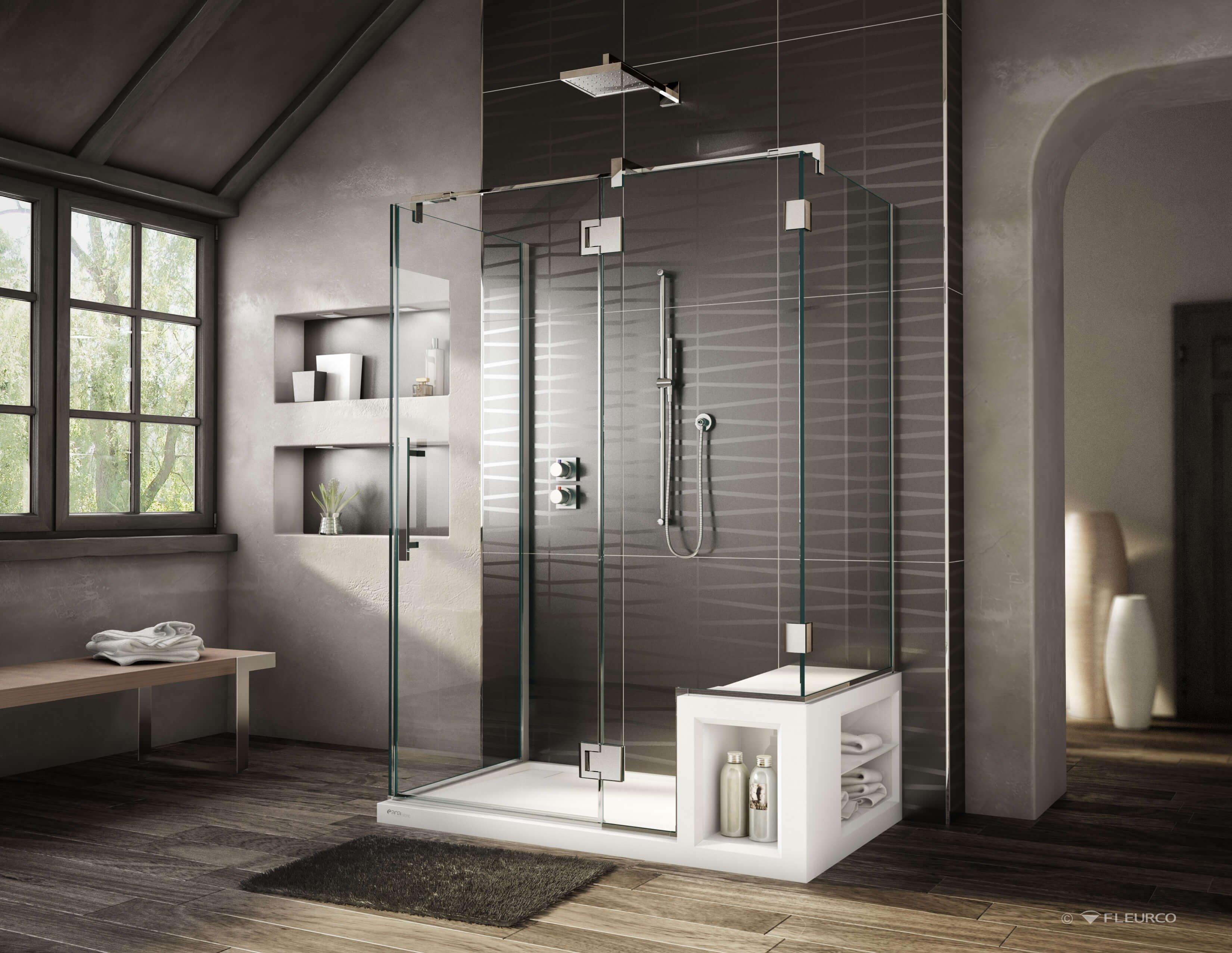 Фото санузла с душем без кабинки для