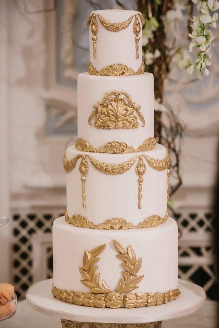 ценятся производительность, фото торт свадебный белый с золотом предоставят вам информацию
