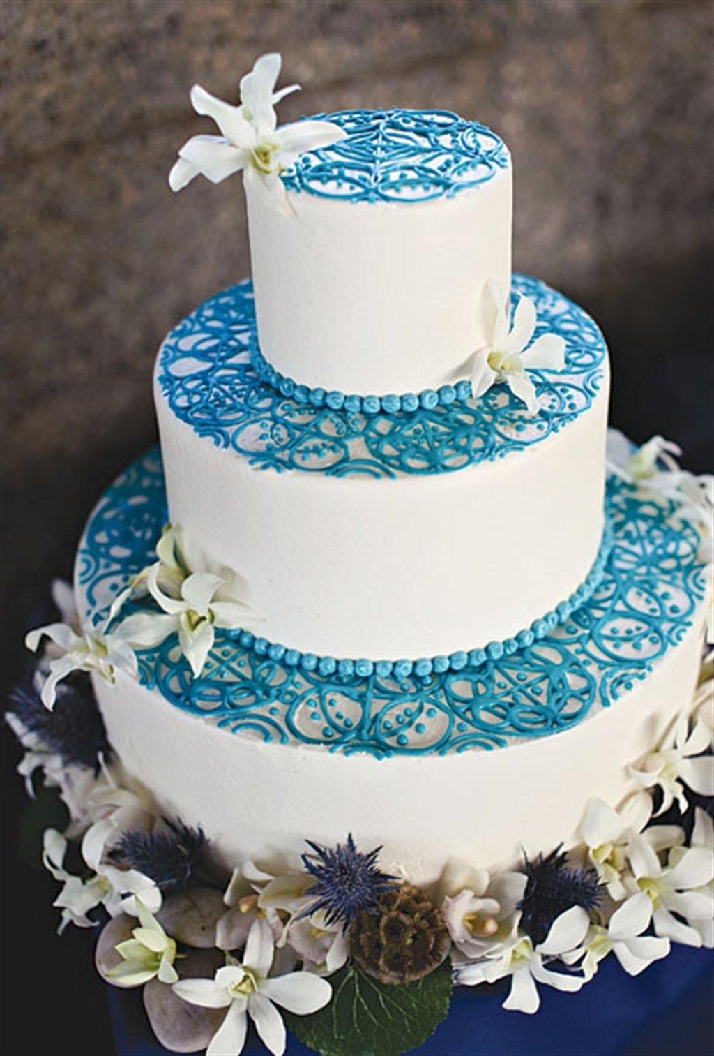 свадьба голубого цвета фото