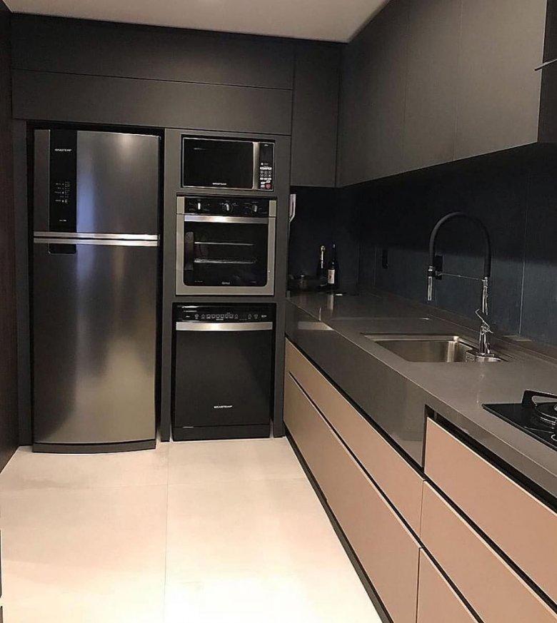 сам процесс кухни с черными холодильниками фото опорой может служить