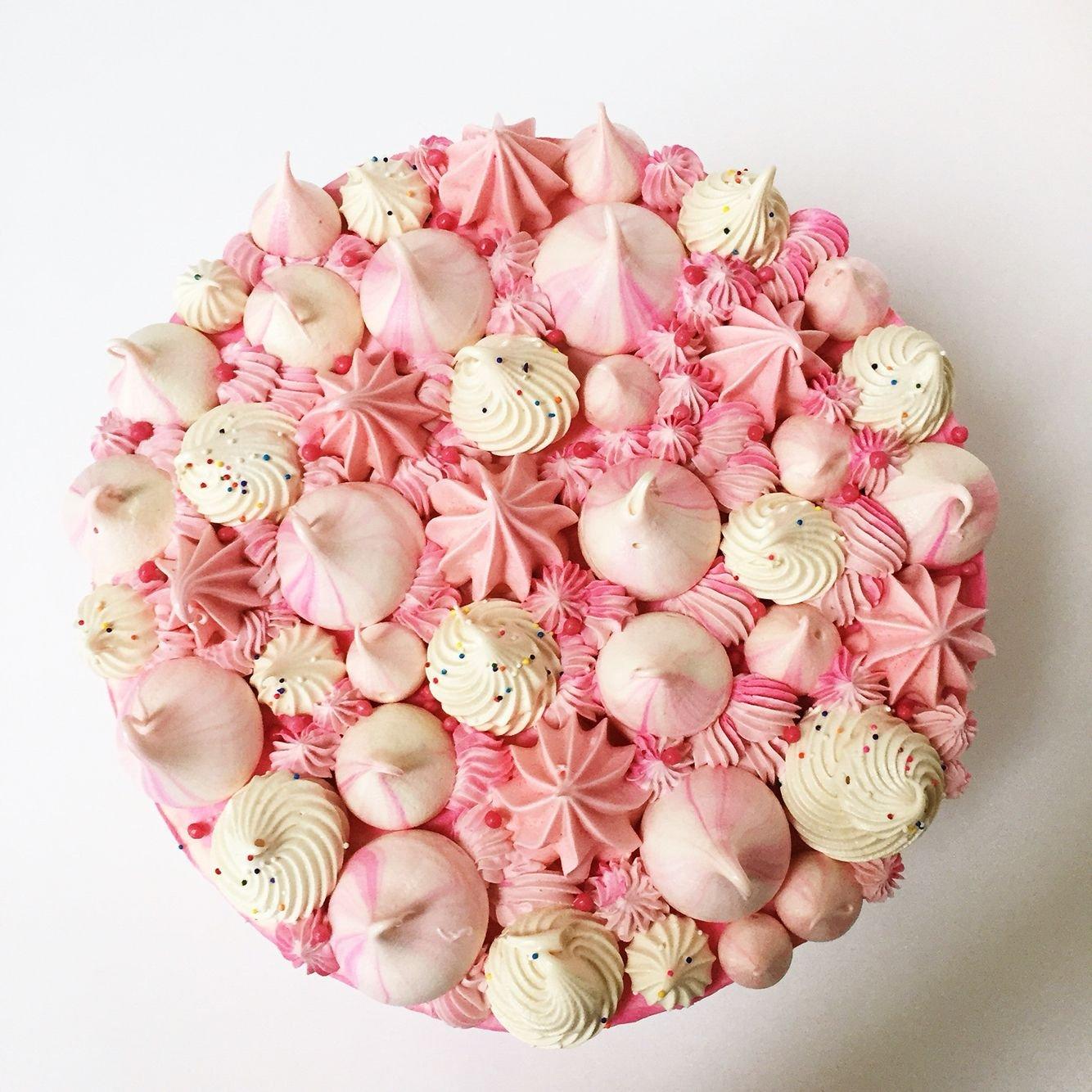 как легко украсить торт с безе фото фото, произведения