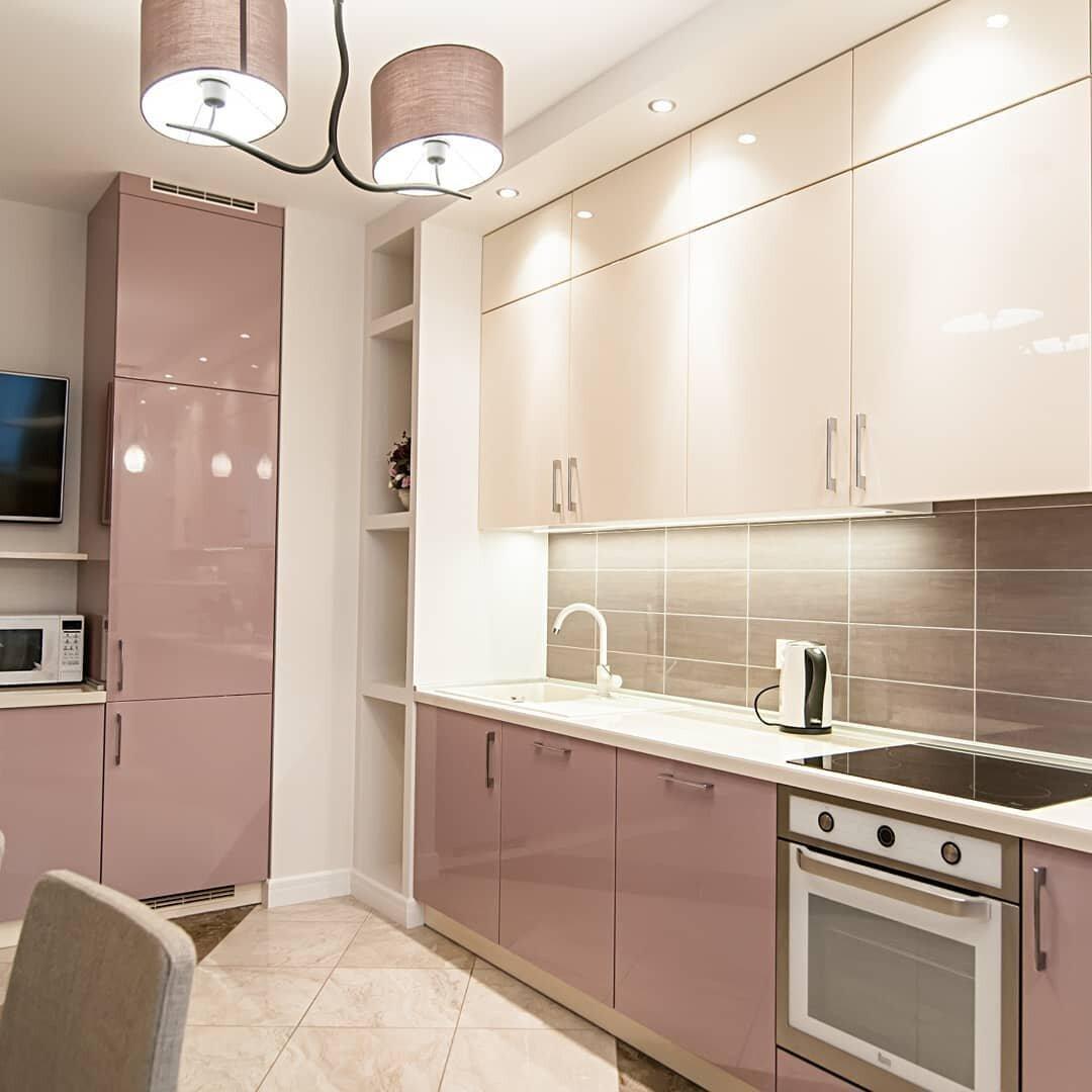 кухни бежевый верх персиковый низ фото ней