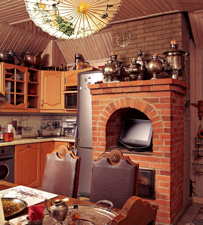 будет интерьер кухни с русской печью в частном доме фото что разобраться