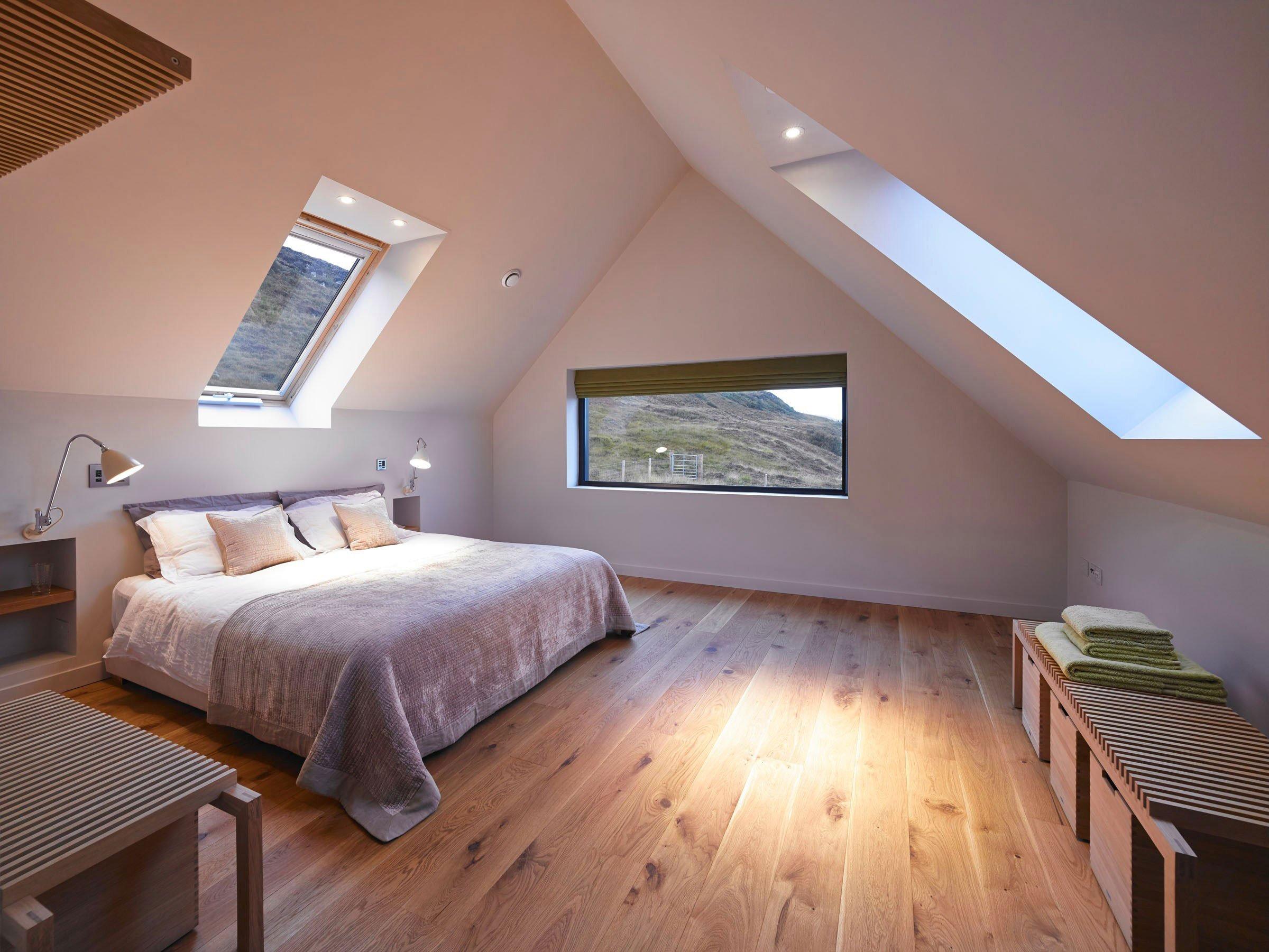 Мансардная двухскатная крыша фото