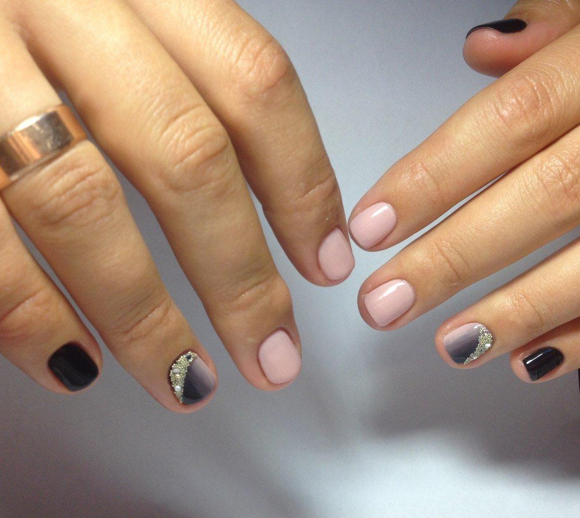 маникюр гель лаком на маленькие ногти картинки