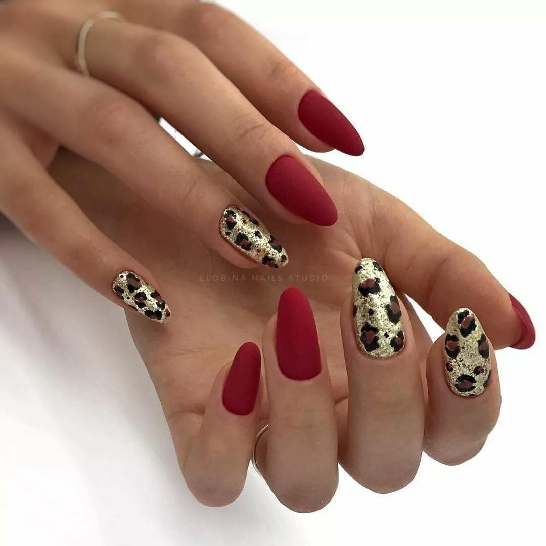 Леопардовый маникюр (37 фото)