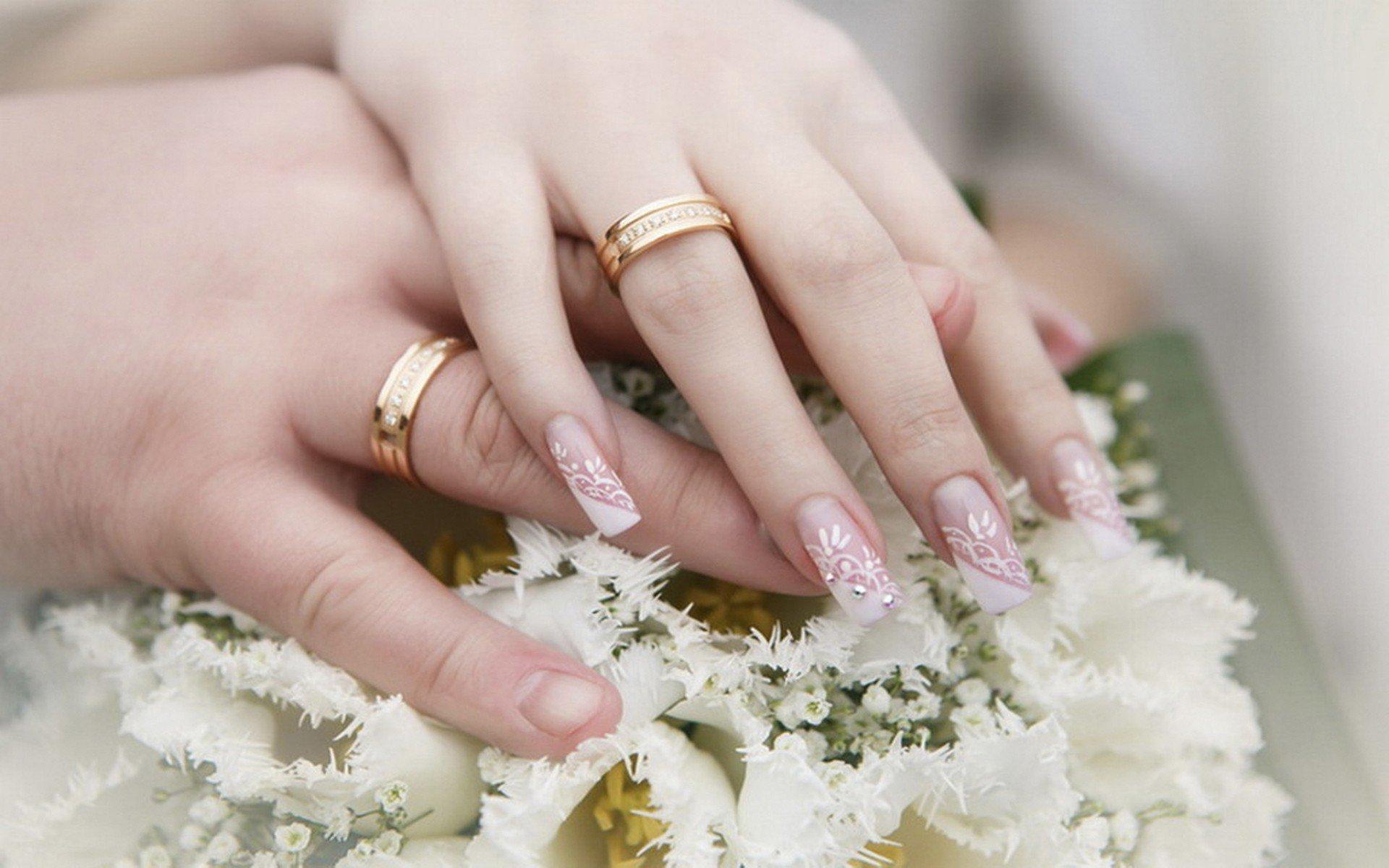 свадебный маникюр фото для невесты на короткие представляет