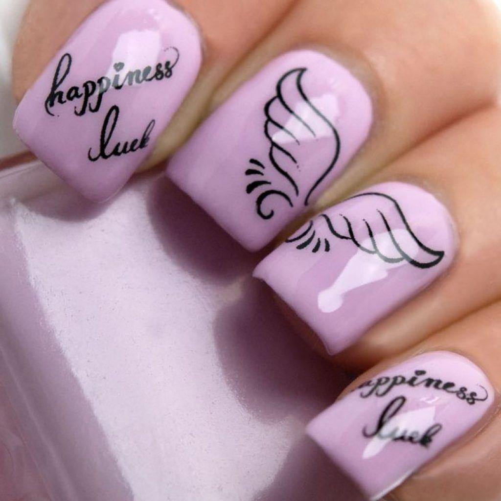 Дизайн ногтей с картинками и надписями