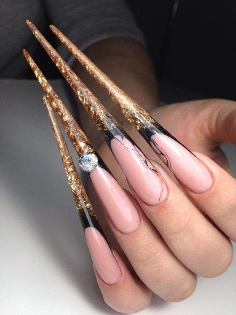 Длинные ногти фото