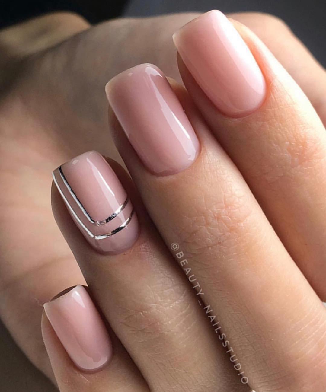 Фото нюдовых ногтей на короткие ногти 2020