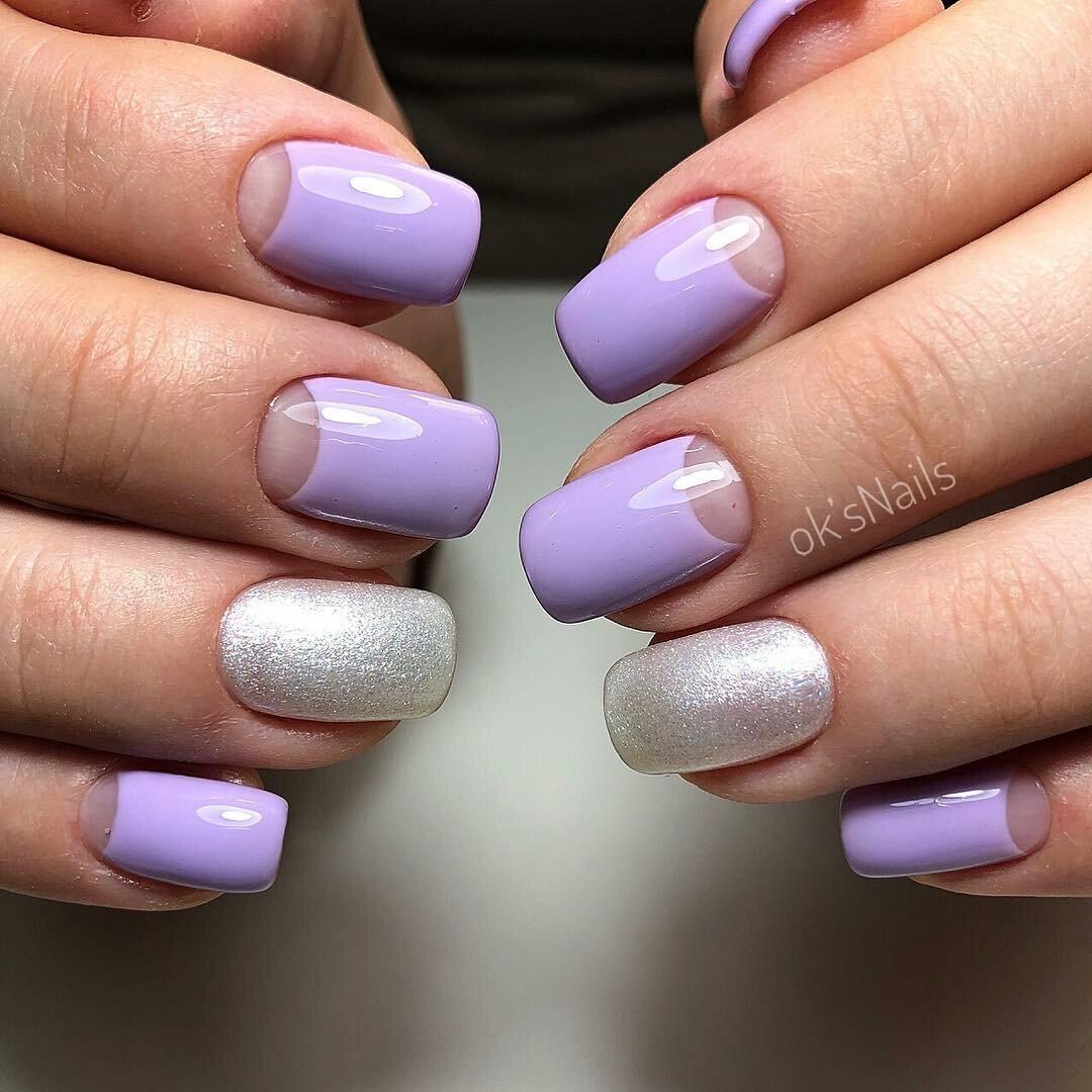 Лавандовый цвет ногтей фото
