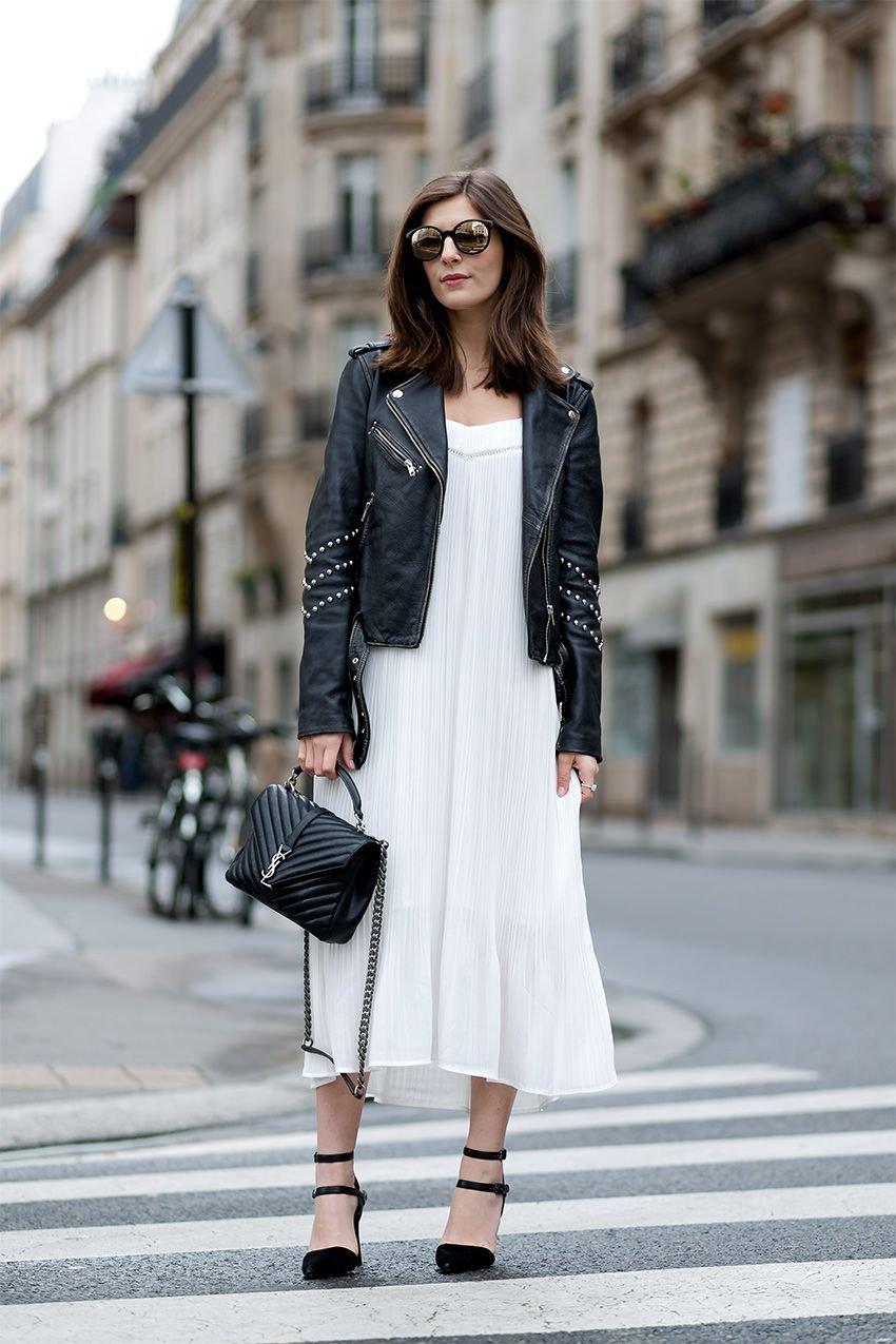 Белое Платье С Косухой