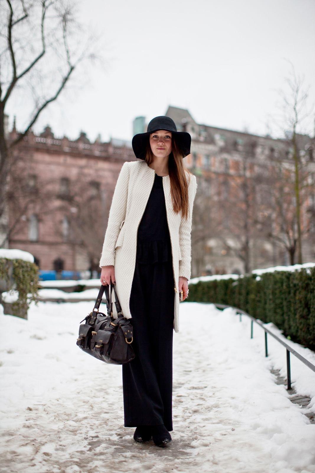 Длинное Платье И Пальто Сочетание