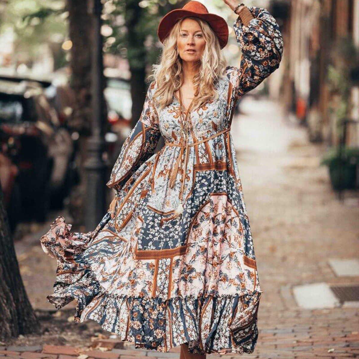 Мода Платья Стиль Бохо
