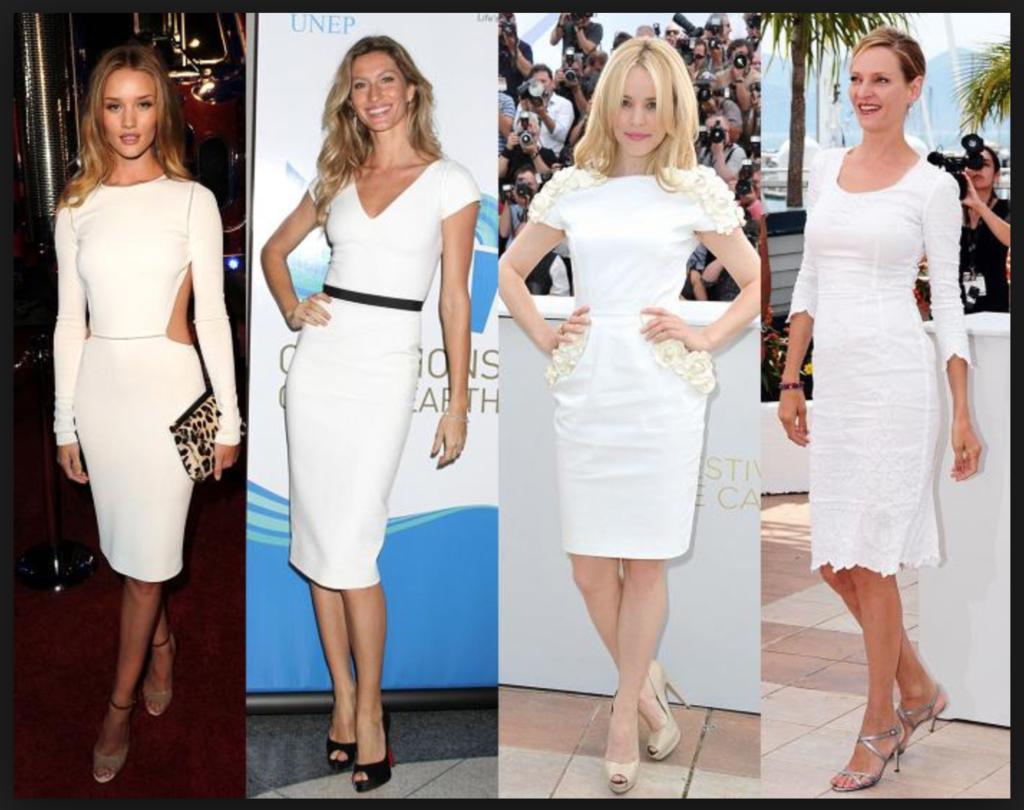 Белое Платье Туфли Какого Цвета