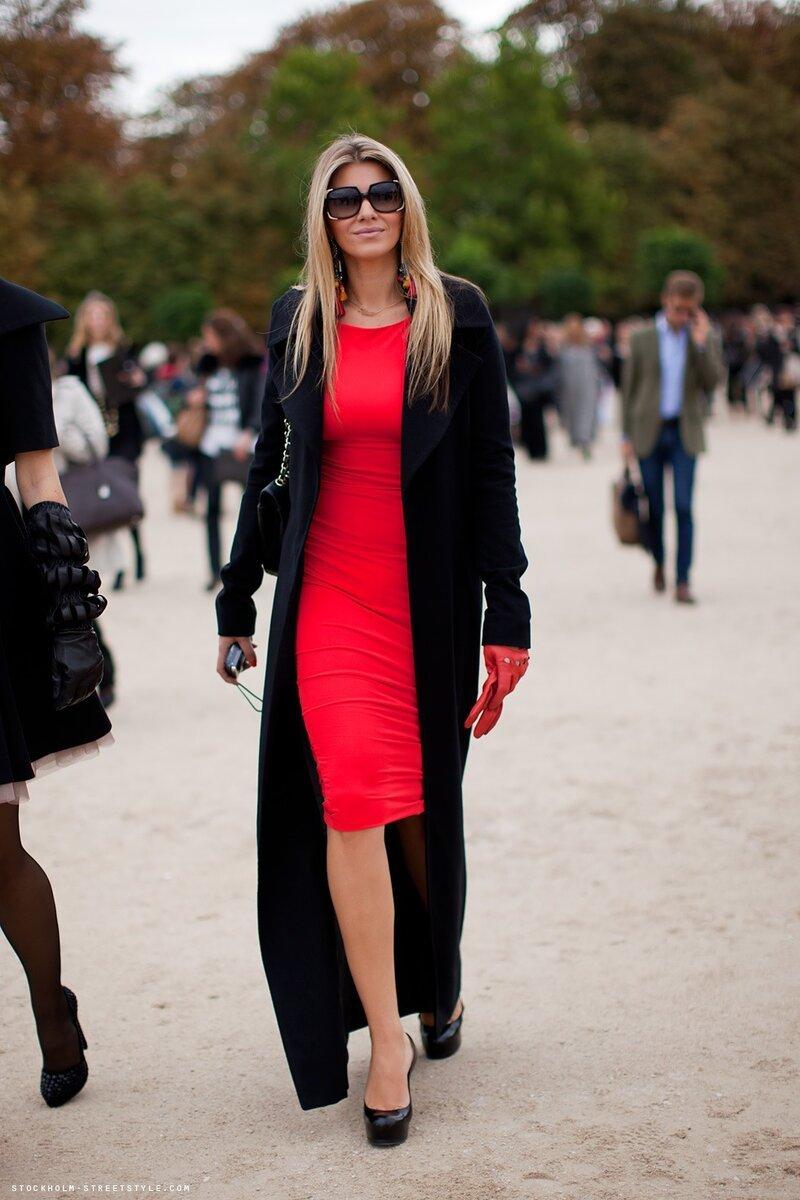 Красно Черное Платье С Чем Носить