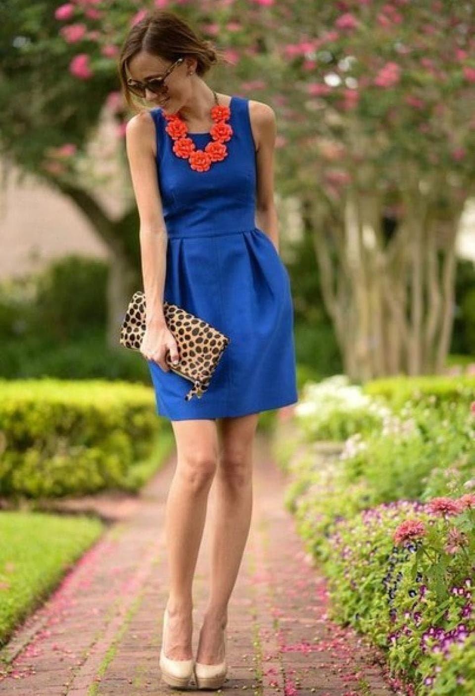 Туфли Синего Цвета С Каким Платьем Сочетать