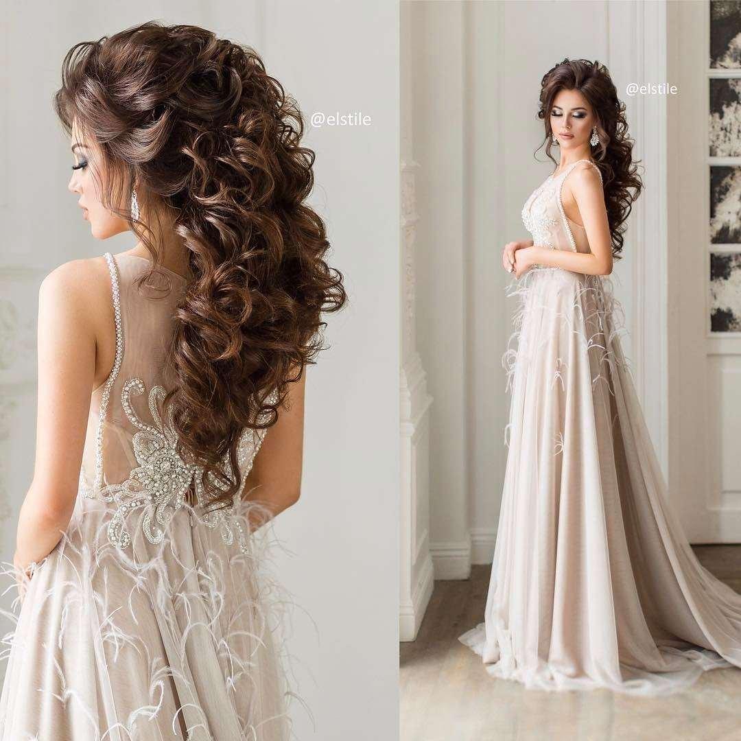 Прическа На Длинные Волосы Под Платье