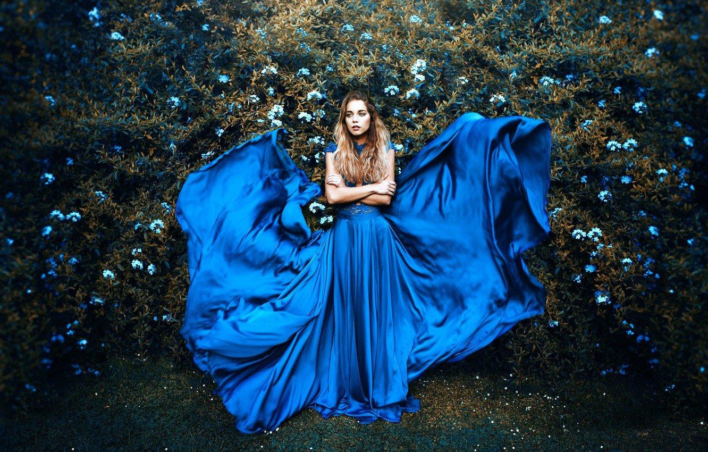 Фотосессия Синее Платье
