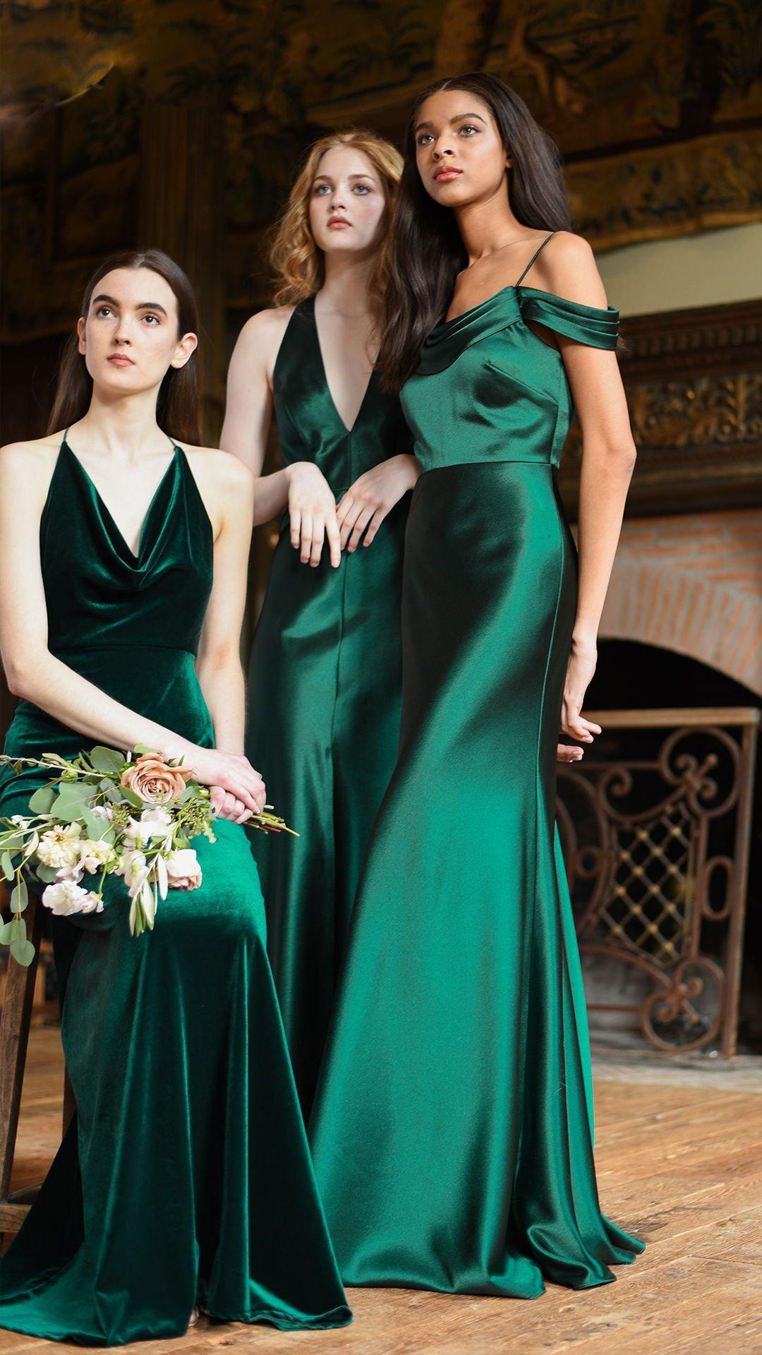 Изумрудные Платья Подружек Невесты