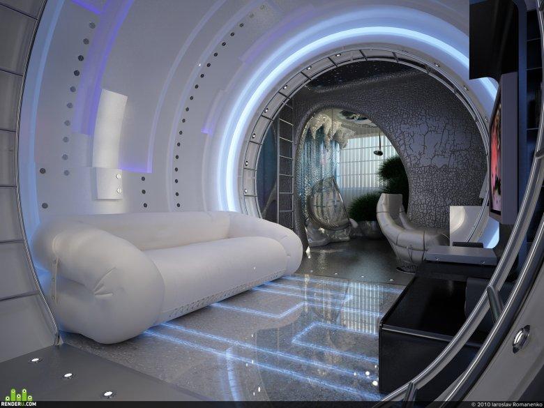 Комната в стиле космического корабля