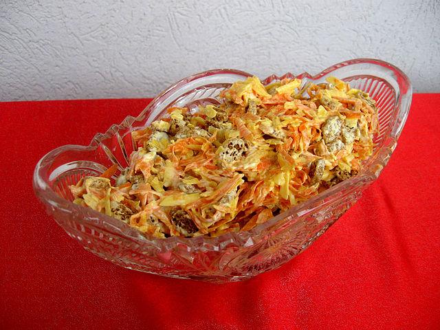 Салат изумрудный с киви сошьем